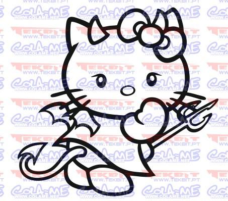 Imagens Autocolante - Hello kitty Diabo