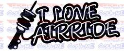Autocolante - I Love AIRRIDES