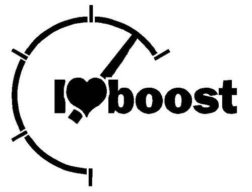 Autocolante - I love boost