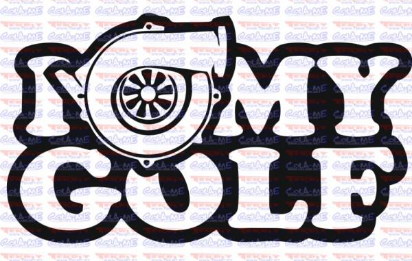 Autocolante - I Love My Golf