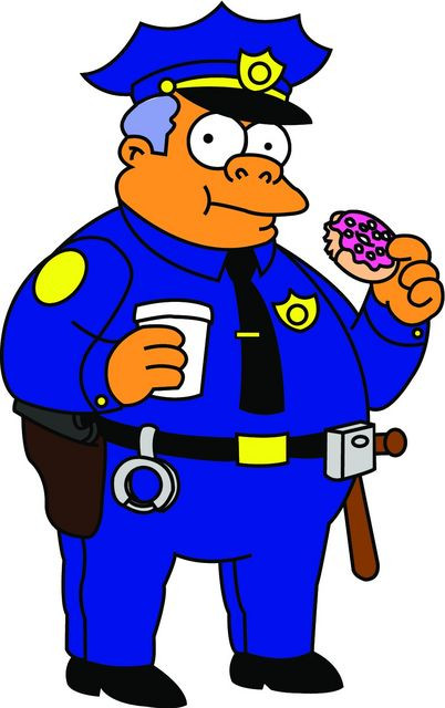 Imagens Autocolante Impresso - Chefe Clancy - Simpsons