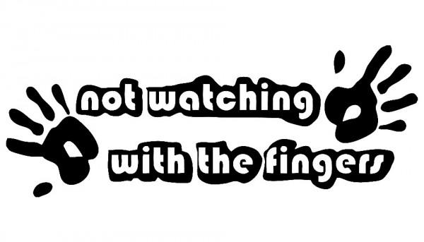 Imagens Autocolante - Not watching with the fingers
