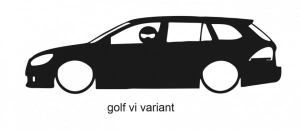 Autocolante para Golf VI Variant Com Stig