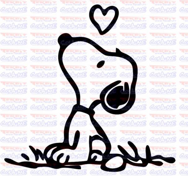 Autocolante - Snoopy love