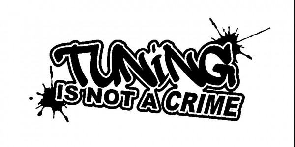 Imagens Autocolante - Tuning Is Not A Crime