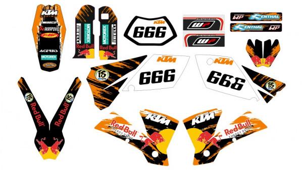 Kit Autocolantes Para KTM 250 SX / MX 04-06