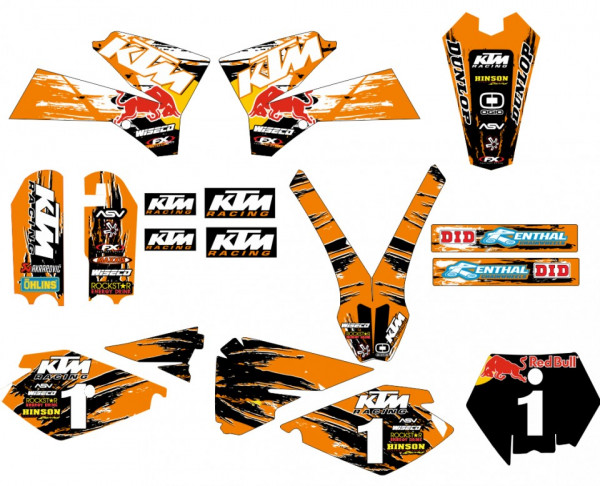 Imagens Kit Autocolantes Para KTM SX 85 03-12