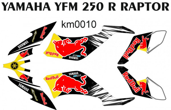 Kit Autocolantes Para Yamaha YFM 250 R Raptor