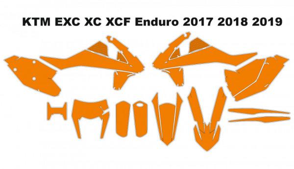 Imagens Molde - KTM EXC XC XCF Enduro 2017 2018 2019