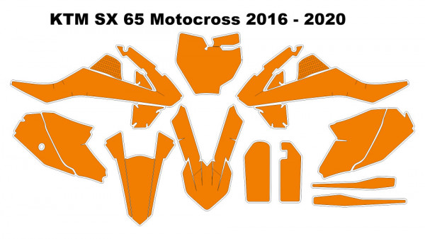 Imagens Molde - KTM SX 65 Motocross 2016 - 2020