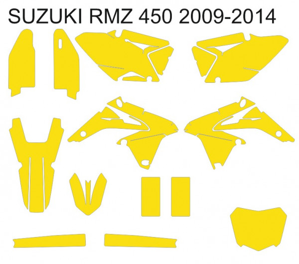 Imagens Molde - SUZUKI RMZ 450 2009 2010 2011 2012 2013 2014