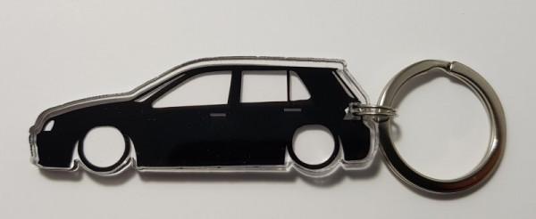 Imagens Porta Chaves de Acrílico com silhueta de Volkswagen Golf IV 5 portas