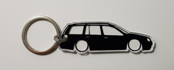 Porta Chaves de Acrílico com silhueta de VW Golf IV Variant
