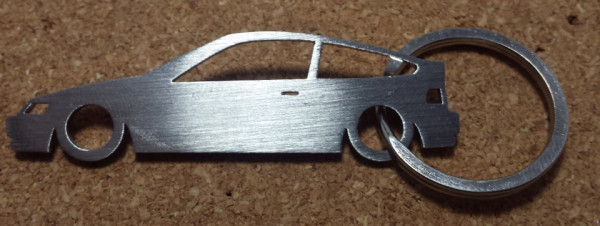 Porta Chaves em inox com silhueta com Honda CRX