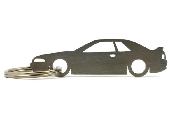 Porta Chaves em inox com silhueta com Nissan Skyline R32