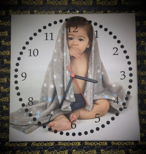 Imagens Relógio tela 30x30cm - Com foto personalizada