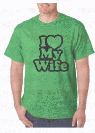 Imagens T-shirt  -I love My Wife