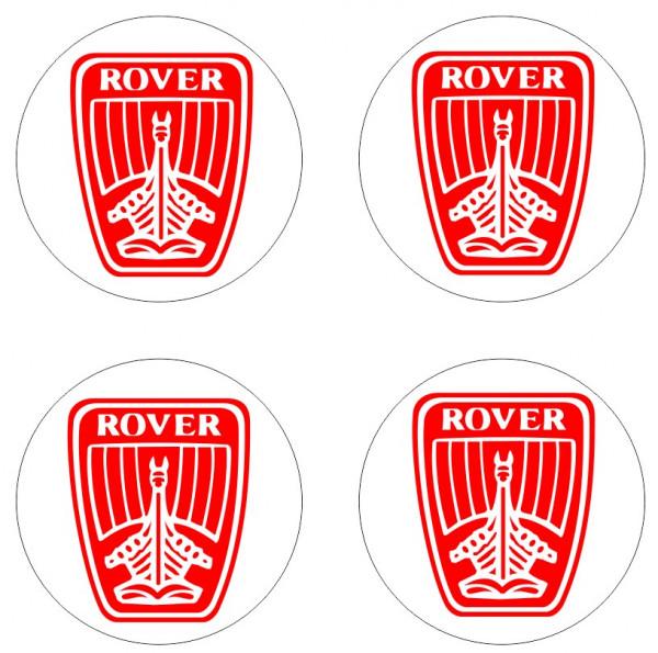 4 Autocolantes Para Centros de Jantes com ROVER