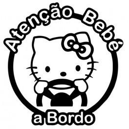 Autocolante - Bebé a Bordo- Hello Kitty