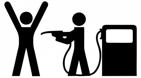 Autocolante com Gasolina Assalto