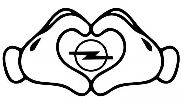 Autocolante com Love Opel
