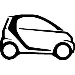 Autocolante com silhueta Smart 2