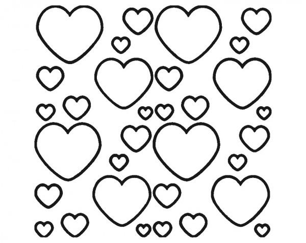 Autocolante - Corações