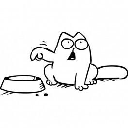 Autocolante - Gato Quer Comida