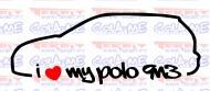 Autocolante - I Love my Polo 9n3