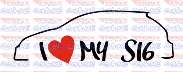 Autocolante - I love my S16