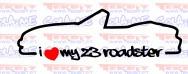 Autocolante - I Love my Z3 Roadster