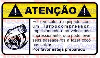 Autocolante Impresso - Atenção - Turbocompressor
