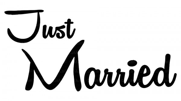 Imagens Autocolante - Just Married