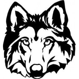 Autocolante - Lobo