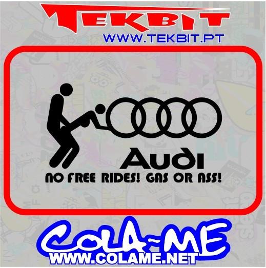 Autocolante - No Free Rides! Gas or Ass