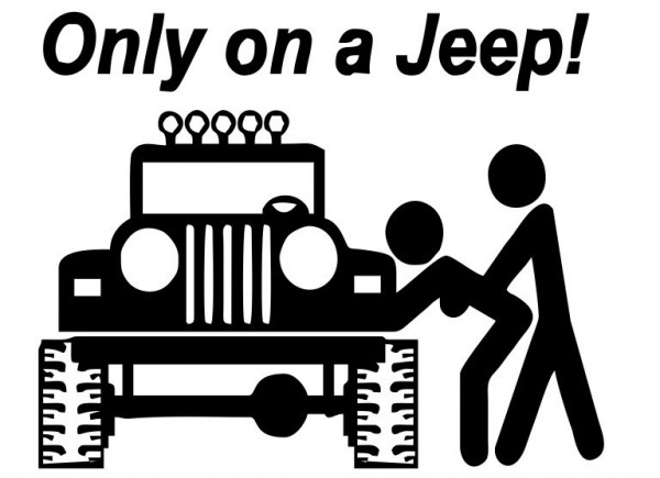 Imagens Autocolante - Only On A Jeep
