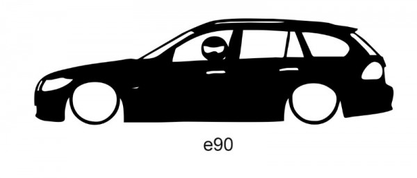 Autocolante para E90 Com Stig