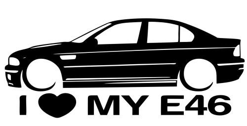 Autocolante para I love BMW E46