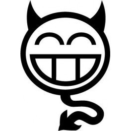 Autocolante - Smile Diabo