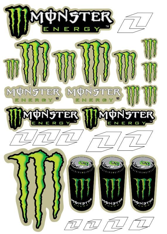 Imagens Folha / Pack de Autocolantes - Monster 01