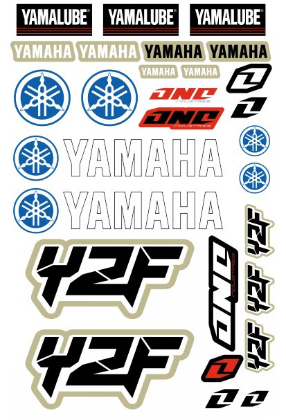Imagens Folha / Pack de Autocolantes - Yamaha