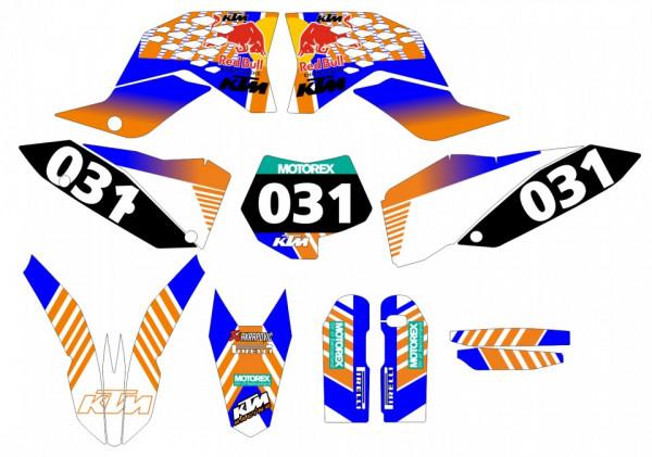 -Kit Autocolantes Para KTM EXC / XC / XCF 08-11