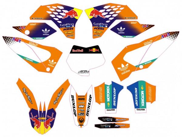 Kit Autocolantes Para KTM SX / MX 07-10