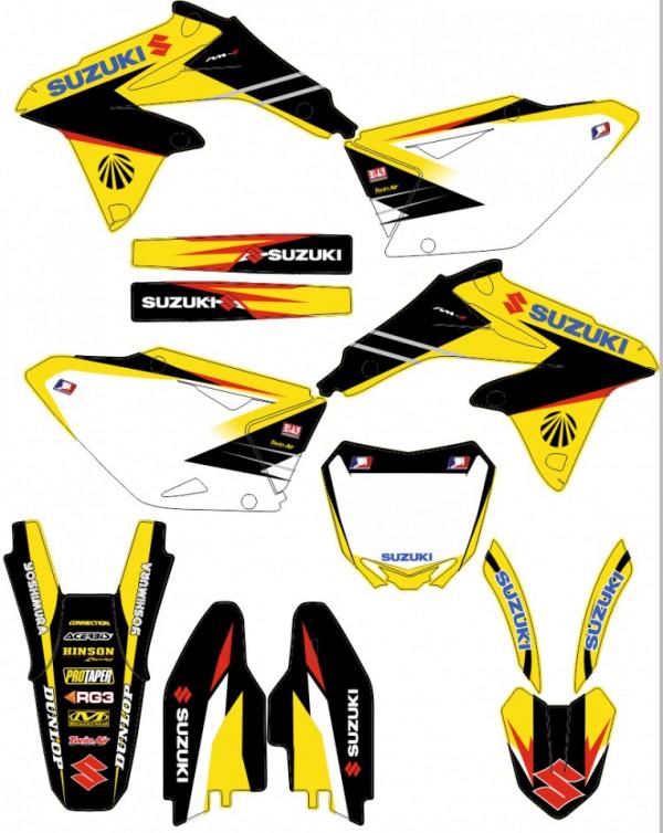 Imagens Kit Autocolantes Para Suzuki RMZ 450 08-17