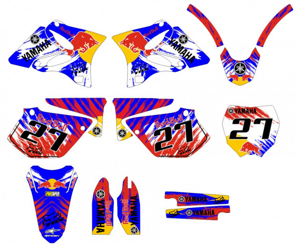 Kit Autocolantes Para Yamaha YZ 125 / 250 02-10