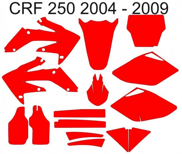Imagens Molde - Honda CRF 250 2004 2005 2006 2007 2008 2009