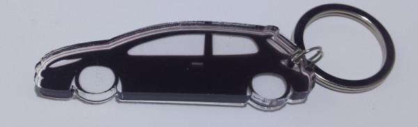 Porta Chaves de Acrílico com silhueta de Peugeot 307