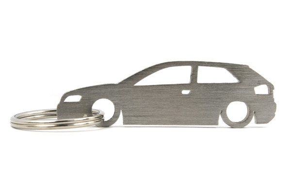 Porta Chaves em inox com silhueta com Audi A3 8P 3P
