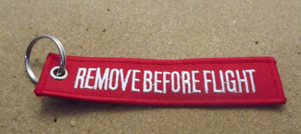 Imagens Porta Chaves - Remove Before Flight