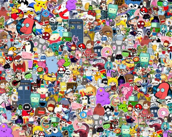 Imagens Sticker Bomb - Desenhos animados - 48x38cm